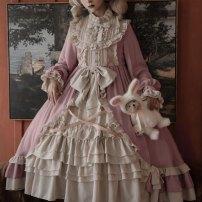 Dress Winter 2020 Cyanosis OP, pink op S,M,L Mid length dress singleton  Long sleeves Sweet Solid color Big swing Princess sleeve Type A Lolita