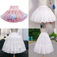 skirt Spring 2020 Short skirt fresh Fluffy skirt Decor Type A 18-24 years old other nylon