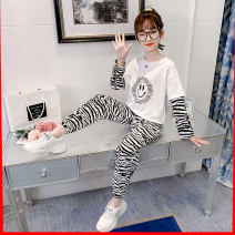 T-shirt Other / other 110cm,120cm,130cm,140cm,150cm,160cm,170cm female spring and autumn Long sleeves Crew neck Korean version There are models in the real shooting nothing cotton Solid color Cotton 75% polyester 25% Class B Sweat absorption Four, five, six, seven, eight, nine, ten, eleven, twelve