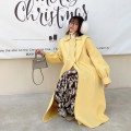 Women's large Winter 2020 The fruit is green and warm yellow Large XL, large XXL, large XXL, large L woolen coat singleton  commute easy Socket Long sleeves Solid color other routine wool routine 1.06 triangle shawl collar Other / other 25-29 years old Button 96% and above