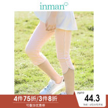 trousers Inman / Inman female 110cm 120cm 130cm 140cm 150cm 160cm summer Cropped Trousers leisure time There are models in the real shooting Leggings Leather belt middle-waisted cotton Don't open the crotch Cotton 93.1% polyurethane elastic fiber (spandex) 6.9% Class B Summer of 2019 Chinese Mainland