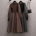 Women's large Winter 2020 Black (for belt), brown (for belt) M [recommended 85-100 Jin], l [100-120 Jin], XL [120-140 Jin], 2XL [140-160 Jin recommended], 3XL [160-180 Jin recommended], 4XL [180-200 Jin recommended] Dress Fake two pieces commute Self cultivation thick Socket Long sleeves Solid color