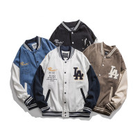 Jacket Other / other Youth fashion White, blue, brown, black L,XL,M,2XL routine easy Other leisure spring Long sleeves Wear out Baseball collar tide teenagers routine Single breasted 2021 Rib hem Closing sleeve Side seam pocket