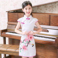 cheongsam Other 100% There are models in the real shooting summer Brocade Class B 18 months, 2 years old, 3 years old, 4 years old, 5 years old, 6 years old, 7 years old, 8 years old, 9 years old, 10 years old, 11 years old, 12 years old, 13 years old, 14 years old Chinese Mainland