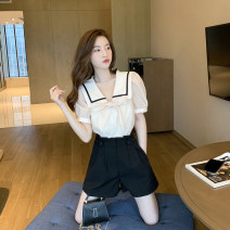 Scarf / silk scarf / Shawl other Top s, top m, top L, Top XL, single black shorts s, single black shorts m, single black shorts L, single Black Shorts XL, dress s, dress m, dress L, Dress XL, top + Shorts S, top + Shorts M, top + shorts L, top + Shorts XL summer female Korean version Solid color