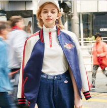 short coat Autumn 2020 S,M,L Picture color Long sleeves routine easy street zipper Embroidery