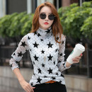 T-shirt White, Khaki M,L,XL,2XL Autumn of 2019 Long sleeves High collar Self cultivation Regular routine commute other 86% (inclusive) -95% (inclusive) Korean version youth Geometric pattern Ka-5609 3D