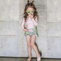 Children's swimsuit / pants Other / other M (80-95cm) 20-26kg, l (95-105cm) 26-35kg, XL (105-115cm) 35-45kg, 2XL (115-125cm) 45-55kg, 3XL (125-135cm) 55-65kg High waist pink, high waist Decor female polyester fiber