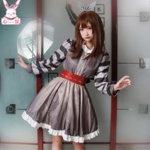 Cosplay women's wear Other women's wear goods in stock Over 3 years old Black Bow Shoes (remark size 35-39, thick bottom flat heel (remark size 35-39), flat heel (remark size 35-39), dress + skirt support, dress, 7cm thick heel (remark size 35-39) game S,M,L,XL