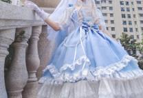 Lolita / soft girl / dress Fairy Tales One size, small, medium, large No season Customized Classic, Gothic, Lolita black