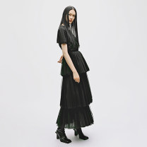 Dress Spring 2021 black XS,S,M,L longuette singleton  Sleeveless commute middle-waisted Solid color zipper Cake skirt routine Others Other / other lady 51% (inclusive) - 70% (inclusive) other other