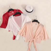 Lace / Chiffon Summer of 2018 Fluorescent green, black, gray, white, red, pink Average size elbow sleeve commute Cardigan singleton  easy have cash less than that is registered in the accounts Solid color routine Bandage Korean version 31% (inclusive) - 50% (inclusive)