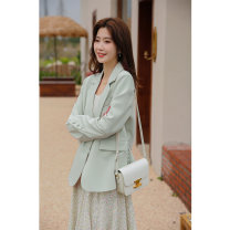 Fashion suit Spring 2021 S,M,L Light green, beige pants, green lace skirt, second batch of light green, second batch of beige pants, second batch of green lace skirt 25-35 years old SubEn 1110411XC 96% and above polyester fiber