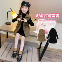 Dress Camel, plush Camel female Other / other 110cm,120cm,130cm,140cm,150cm,160cm,170cm Cotton 80% polyester 20% spring and autumn leisure time Long sleeves Solid color cotton A-line skirt Class B Chinese Mainland Zhejiang Province Huzhou City