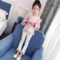 Sweater / sweater ConnyStyle Pink female 105cm, 110cm, 120cm, 130cm, 140cm, 150cm, 160cm, 165cm can be parented spring and autumn nothing Korean version Socket routine There are models in the real shooting Cotton blended fabric other Cotton 95.7% polyurethane elastic fiber (spandex) 4.3% CC205