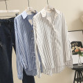 shirt White, sky blue The recommended weight for 1XL is 130-150 kg, that for 2XL is 160-180 kg, that for 3XL is 180-200 kg, and that for 4XL is 200-220 kg Spring of 2019 cotton 30% and below Long sleeves commute Regular Polo collar Korean version