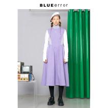 Dress Winter of 2019 purple gray S, M longuette singleton  Long sleeves BLUEerror 2C1010L03AD