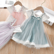 Dress female Can Rhine 90cm,100cm,110cm,120cm,130cm Other 100% summer Chinese style Skirt / vest other cotton A-line skirt B064 Class B 2 years old, 3 years old, 4 years old, 5 years old, 6 years old, 7 years old Chinese Mainland Guangdong Province Foshan City