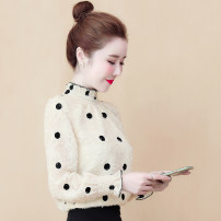 Lace / Chiffon Spring 2020 Apricot, pink S,M,L,XL,2XL Long sleeves commute Socket singleton  Straight cylinder High collar pagoda sleeve fungus Korean version 51% (inclusive) - 70% (inclusive)