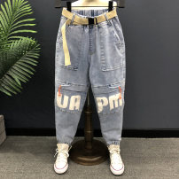 trousers Other / other male blue spring and autumn trousers Korean version No model Jeans Leather belt middle-waisted Cotton elastic denim Don't open the crotch Cotton 95% other 5% Class B 14, 3, 5, 9, 12, 7, 8, 6, 2, 13, 11, 4, 10 Chinese Mainland