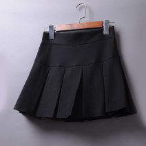 skirt Winter 2020 Short skirt commute High waist Pleated skirt Solid color Type A 25-29 years old 51% (inclusive) - 70% (inclusive) Wool Korean version 401g / m ^ 2 (inclusive) - 500g / m ^ 2 (inclusive)