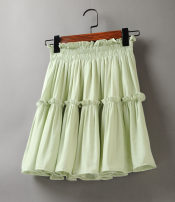 skirt Summer 2021 Average size Black, white, grass green, orange, orange Short skirt Versatile High waist A-line skirt Solid color Type A 25-29 years old 51% (inclusive) - 70% (inclusive) Chiffon Other / other fold 61G / m ^ 2 (including) - 80g / m ^ 2 (including)