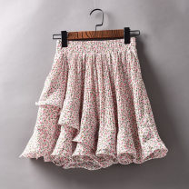 skirt Summer 2021 Average size Short skirt Versatile High waist Irregular Decor Type A 25-29 years old 31% (inclusive) - 50% (inclusive) Chiffon Other / other 181g / m ^ 2 (including) - 200g / m ^ 2 (including)