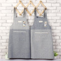 apron Mosaic stripes red, mosaic stripes coffee, mosaic stripes blue, mosaic stripes green, vertical stripes green, vertical stripes blue, vertical stripes coffee, vertical stripes red Sleeveless apron antifouling Japanese  pure cotton Household cleaning Average size Export apron public no