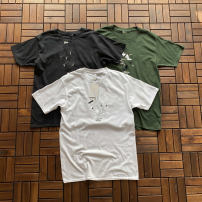 T-shirt Youth fashion White, black, army green routine M,L,XL Others Short sleeve Crew neck standard daily summer teenagers routine tide Woven cloth 2018 printing cotton Spoof pattern Non brand 90% (inclusive) - 95% (inclusive)