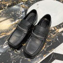 Low top shoes black 38,39,40,41,42,43 Other / other PU Trochanter Square head Outdoor leisure shoes PU The trend of youth daily Solid color Flat heel spring and autumn Adhesive shoes A171 Korean version Spring 2020