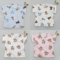 T-shirt No return for blue animals, no return for white animals, no return for white bears, no return for pink bears Other / other 90cm(5),100cm(7),110cm(9),120cm(11),130cm(13),140cm(15) neutral summer other Cartoon animation Class A