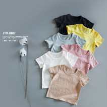 T-shirt Seando 80, 90, 100, 110, 120, 130 neutral summer Short sleeve Crew neck leisure time No model nothing cotton Solid color Cotton 100% Class B other 12 months, 18 months, 2 years old, 3 years old, 4 years old, 5 years old, 6 years old, 7 years old