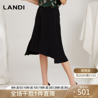 skirt Spring 2020 S M L XL black Middle-skirt Versatile High waist A-line skirt Solid color Type A 25-29 years old MLTCQ08300103 More than 95% LANDI polyester fiber 100.00% polyester Same model in shopping mall (sold online and offline)