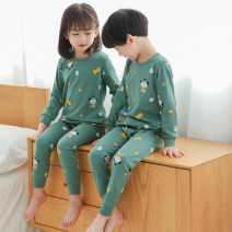 Home suit Other / other spring and autumn neutral Cotton 100% 1-3 years old, 3-5 years old, 5-7 years old Keep warm, eliminate dampness and sweat, stay at home cotton Class B