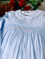 Dress Light blue female Other / other Cotton 100% cotton Big swing shshhs 18 months, 2 years, 4 years, 5 years, 6 years