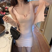 Fashion suit Autumn of 2019 Average size Gray, pink, black, white 18-25 years old Other / other cotton