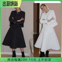 Fashion suit Winter 2020 S,M,L Jacket white, skirt white, jacket black, skirt black 25-35 years old X20612 /X20305
