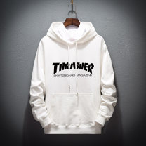 Sweater Youth fashion Others White, light gray, black, up white, up light gray, up black M suggests about 100 kg, l 120 kg, XL 140 kg, 2XL 160 kg, 3XL 180 kg, 4XL 200 kg and 5XL 220 kg other Socket Thin money Hood Spring and Autumn easy motion teenagers tide routine Terry cloth cotton printing