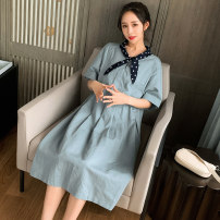 Dress Other / other Picture color M,L,XL,XXL Korean version Short sleeve Medium length summer