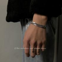 Cuban chain crude chain Titanium steel Bracelet male ins tide Hip hop Simplicity personality Cold wind lovers Bracelet Accessories