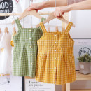Dress Green, yellow, pink, blue grid, red grid, black and white grid, delicate yellow, pine green female Other / other 80, 90, 100, 110, 120, 130 Cotton 90% other 10% summer fresh Skirt / vest lattice cotton A-line skirt FHW17 other Chinese Mainland Guangdong Province Foshan City