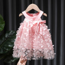 Dress White, pink female Tagkita / she and others 80, 90, 100, 110, 120, 130 Cotton 95% other 5% summer Korean version Skirt / vest Cartoon animation cotton Princess Dress FHW2046 12 months, 9 months, 18 months, 2 years old, 3 years old, 4 years old, 5 years old, 6 years old, 7 years old, 8 years old