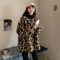 woolen coat Winter 2020 One size fits all, XXS pre-sale Leopard Print other 31% (inclusive) - 50% (inclusive) routine Long sleeves commute Single breasted routine V-neck Straight cylinder Korean version Button