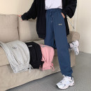 Casual pants Gray, blue, black, pink S. M, l, XXS pre sale Spring 2021 trousers Haren pants High waist commute routine 18-24 years old 96% and above other Korean version pocket