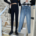 Jeans Autumn 2020 Light blue, dark gray, black S. M, l, XXS pre sale Ninth pants High waist Pencil pants routine Zipper, button Dark color 51% (inclusive) - 70% (inclusive)