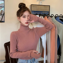 Wool knitwear Winter 2020 One size fits all, XXS pre-sale Apricot , Light green , white , blue , black , Dark powder , orange , Khaser Long sleeves singleton  Socket other 31% (inclusive) - 50% (inclusive) Medium length routine commute Self cultivation High collar routine Solid color Socket