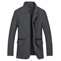 Jacket Other / other Business gentleman 175/88A,180/92A,185/96A,190/100A,195 routine standard Other leisure spring Long sleeves Wear out stand collar 2017 No iron treatment Woollen cloth