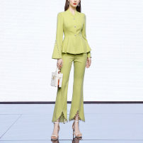 Fashion suit Spring 2021 S,M,L,XL Yellow green (5-7 days delivery), yellow green (in stock) 25-35 years old Duffy fashion JC22153 96% and above polyester fiber
