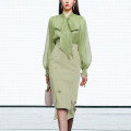 Fashion suit Spring 2021 S,M,L,XL,XXL Willow green + tender green long sleeves 5-7 days delivery, willow green + tender green long sleeves (in stock), willow green + tender green short sleeves (in order), willow green + tender green short sleeves (in stock) 25-35 years old Duffy fashion HC22125F