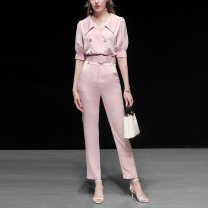 Fashion suit Summer 2020 S,M,L,XL Pink (5-7 days delivery), pink (in stock) 25-35 years old Duffy fashion J15415 96% and above polyester fiber